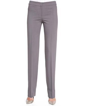 Featherweight-Wool Straight-Leg Pants