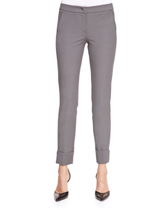Tech Cotton Slim-Leg Pants