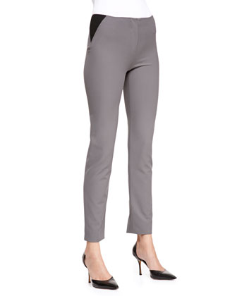 Tech-Cotton Triangle-Insert Leggings