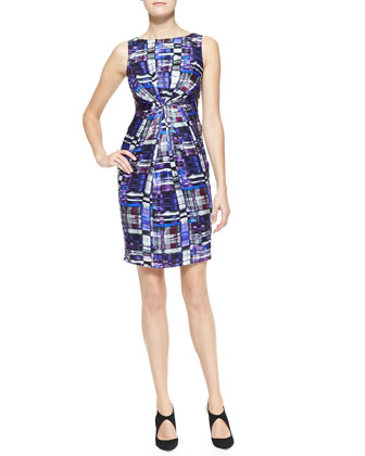 Kaleidoscope-Print Silk Dress