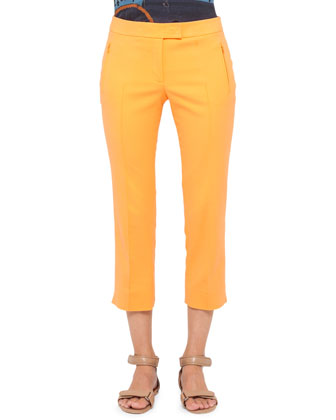 Fabrizia Cropped Pants, Orange