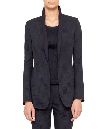 Perforated Jacket, Navy