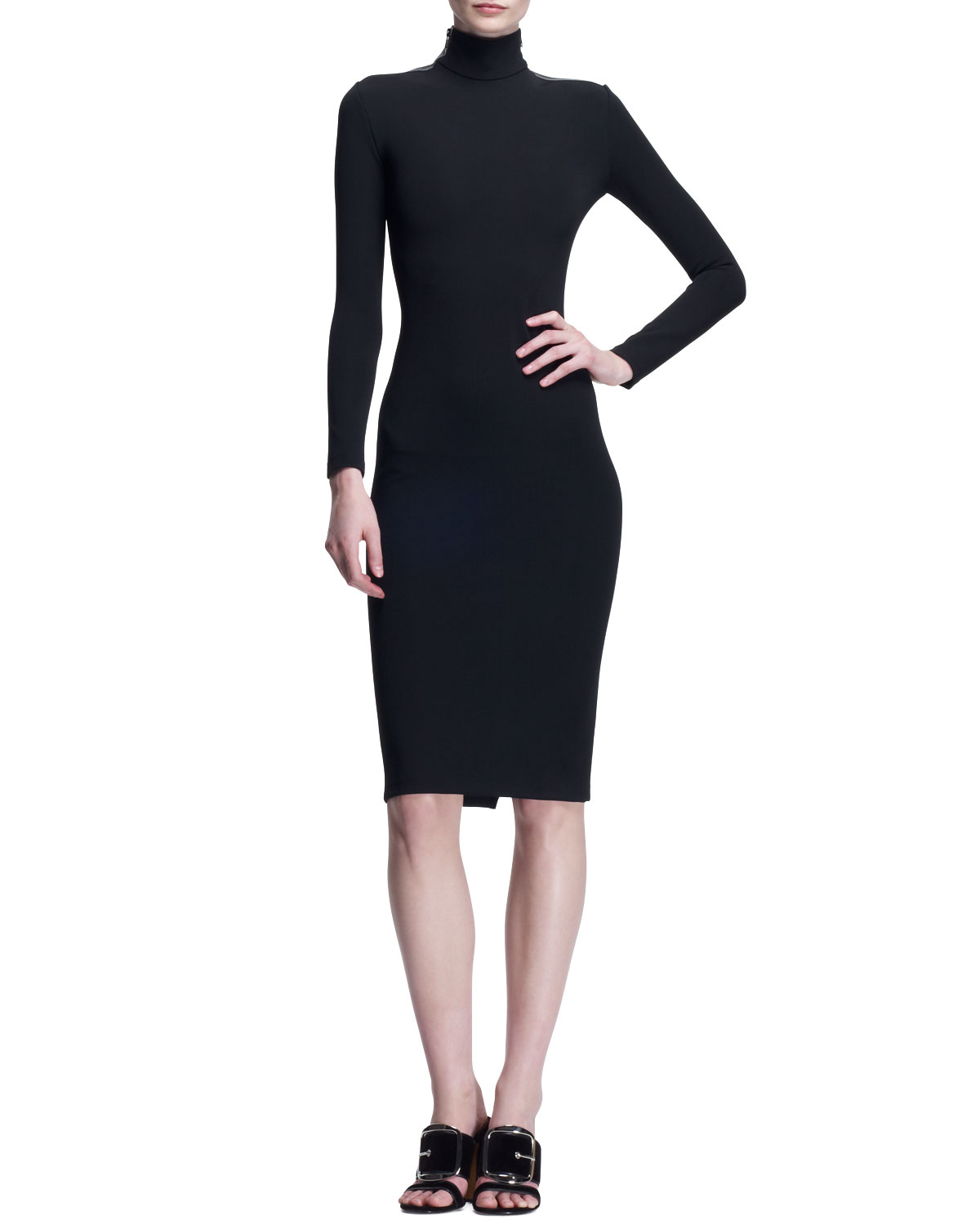 Womens Fitted Zip Shoulder Dress   Givenchy   Black (40/6)