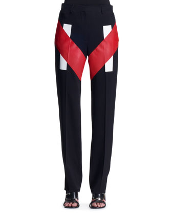 V-Panel Colorblock Trousers