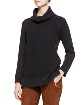 Tunica Textured Cashmere Cowl-Neck Sweater