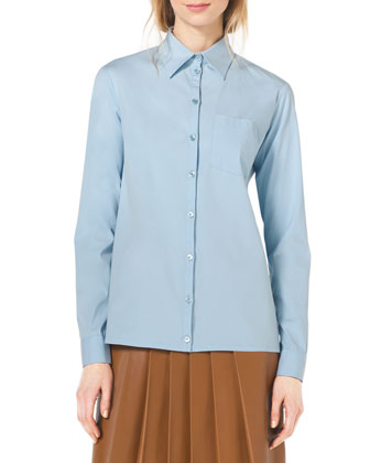 Classic Stretch-Cotton Button Shirt