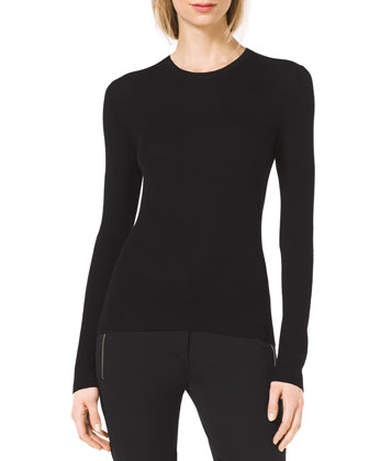 Slim Cashmere Crewneck Sweater