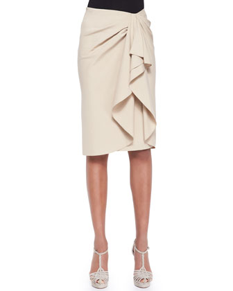 Silk-Cashmere Ballet Sweater and Madelaine Ruffle-Front Skirt