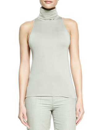 Helene Suede Drape-Neck Jacket, Sleeveless Turtleneck Top & Skylar Wool ...
