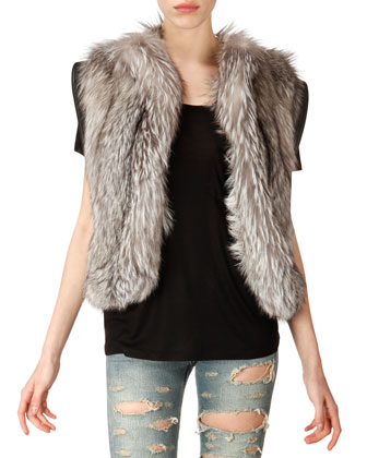 Fox Fur Vest, Natural