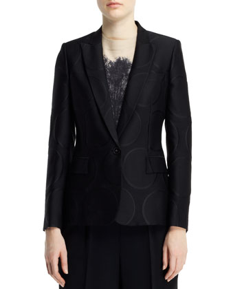 Halo Dot Jacquard Jacket, Black