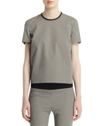 Mini-Houndstooth Top, Black White