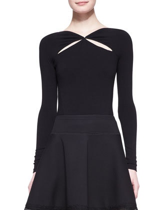 Cool Jersey V-Back Ballerina Top & Sculpted Bonded Jersey Skirt with Lace ...