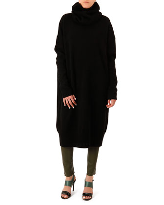 Dita Oversized Scarf-Neck Dress