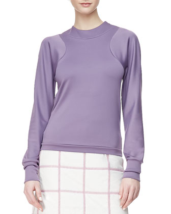 Arc Line Long-Sleeve Top, Mauve