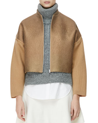 Felted Wool Jacket, Dune