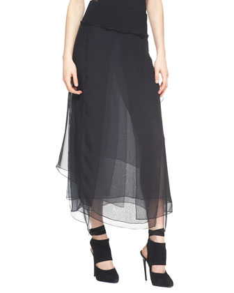 Silk Skirt, Black
