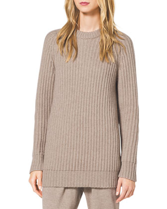 Chunky Ribbed Cashmere Turtleneck