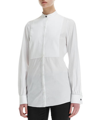 Poplin Blouse with Bib