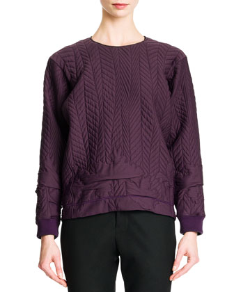 Quilted Tech-Fabric Top