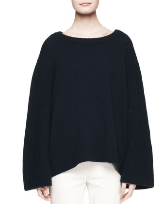 Astya Oversized Knit Sweater and Shama Slim-Leg Pants