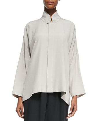 Imperial Top with Mandarin Collar