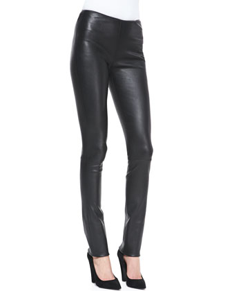 Moto-Style Leather Leggings