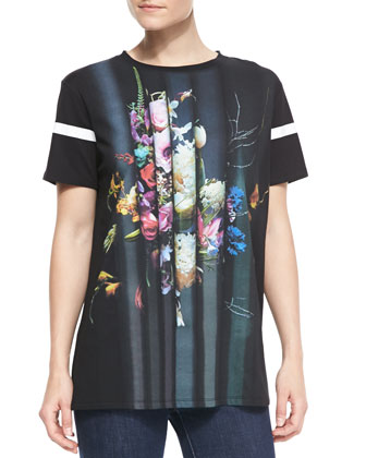 Short-Sleeve Still Life Printed T-Shirt