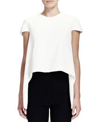 Cap-Sleeve Combo High-Low Top and Cap-Sleeve Combo High-Low Top