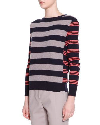 Striped Cashmere Pullover Sweater