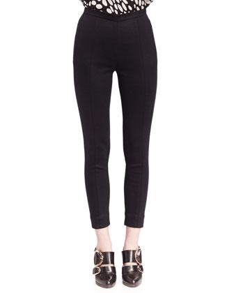 Long-Sleeve Animal-Print Blouse & Punto Milano Ski Pants
