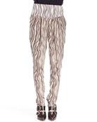 Printed Waves Georgette Pants