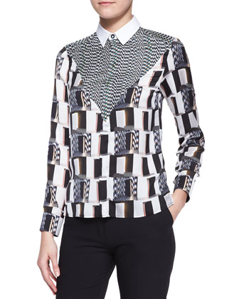 White Noise Printed Blouse