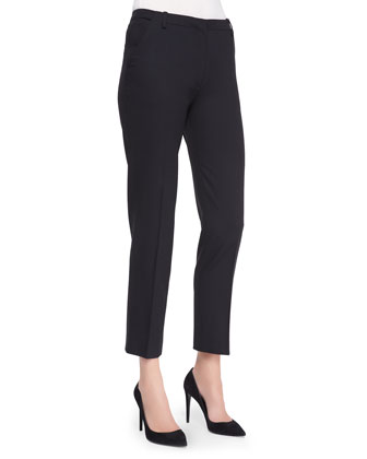 Cropped Straight-Leg Trousers