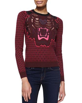 Embroidered Jacquard Tiger Sweatshirt