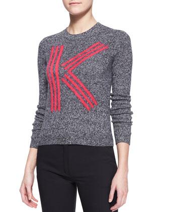 K Kenzo Intarsia Knit Top