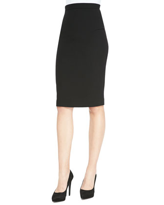 Eugene Sleeveless Dramatic Drape-Back Top & Sitona Slim Skirt with Back-Zip ...