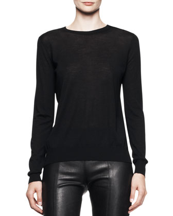 Long-Sleeve Merino Crewneck Sweater