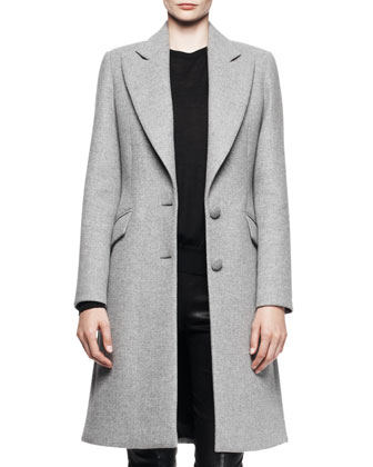 Two-Button A-Line Coat