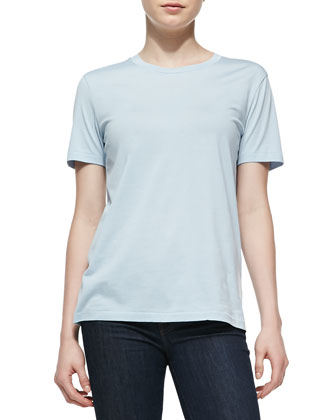 Vista Jersey Short-Sleeve Top, Sky Blue