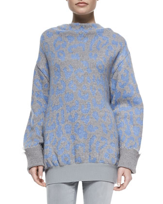 Mist Animal-Print Sweater and Tucker Ankle Pants
