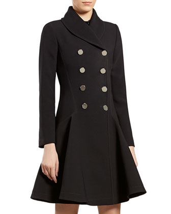 Black Flared Coat