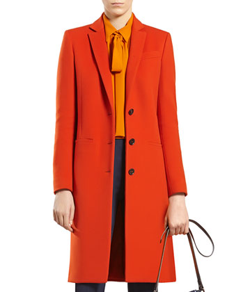 Dark Orange Wool Coat