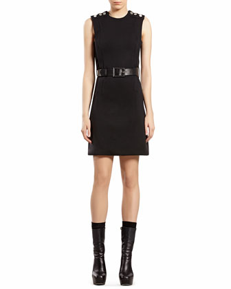 Black Wool Jersey Dress
