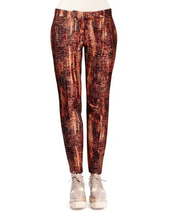 Slim Tie-Dye Jacquard Pants