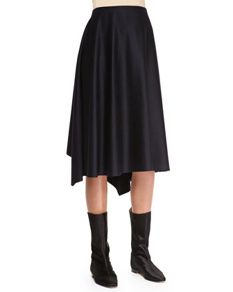 Asymmetric A-Line Skirt, Midnight