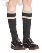 Striped Knee Socks