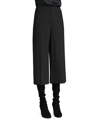Modern Stretch Gaucho Pants, Caviar