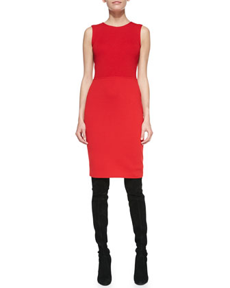 Sleeveless Sheath Dress, Venetian Red