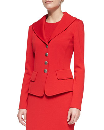 4-Button Blazer, Venetian Red
